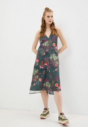Платье PUMA x LIBERTY Dress. Цвет: зеленый