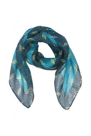 Платок F.FRANTELLI. Цвет: синий, ванильный