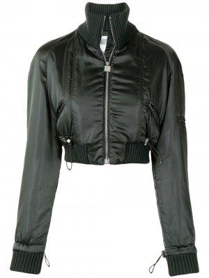 Укороченная куртка Sports Line 2003-го года с логотипом CC Chanel Pre-Owned. Цвет: зеленый