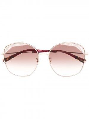 Солнцезащитные очки в массивной оправе MISSONI EYEWEAR. Цвет: красный