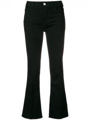 Укороченные джинсы клеш Haikure. Цвет: черный