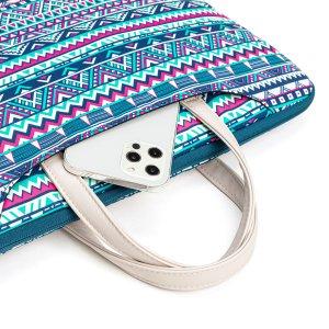 14 дюймов Сумка для ноутбука с геометрическим принтом SHEIN. Цвет: многоцветный