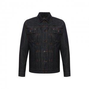 Джинсовая куртка Black Label Harley-Davidson. Цвет: синий