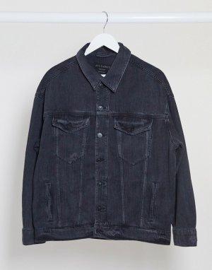 Выбеленная черная джинсовая куртка -Черный AllSaints