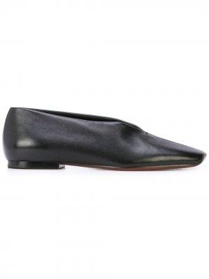 Слиперы с квадратным носком Proenza Schouler. Цвет: черный
