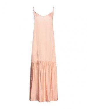 Длинное платье DIXIE. Цвет: телесный