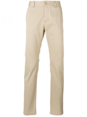 Классические брюки-чинос кроя слим Saint Laurent. Цвет: бежевый