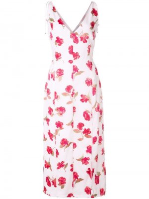 Платье с цветочным принтом Altuzarra. Цвет: белый