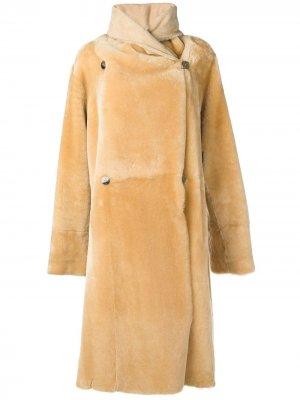 Длинное пальто Lisa Liska. Цвет: нейтральные цвета