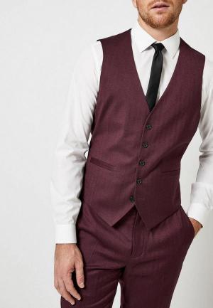 Жилет Burton Menswear London BU014EMDMJG7. Цвет: бордовый