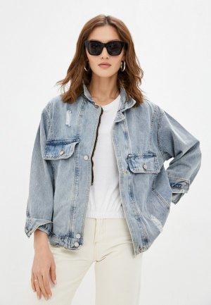 Куртка джинсовая Moki. Цвет: голубой