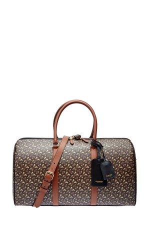 Дорожная сумка из хлопка e-canvas с защитным покрытием BURBERRY. Цвет: мульти