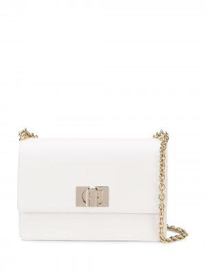 Большая сумка через плечо 1927 Furla. Цвет: белый