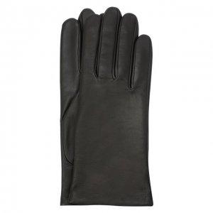 Кожаные перчатки Agnelle. Цвет: серый