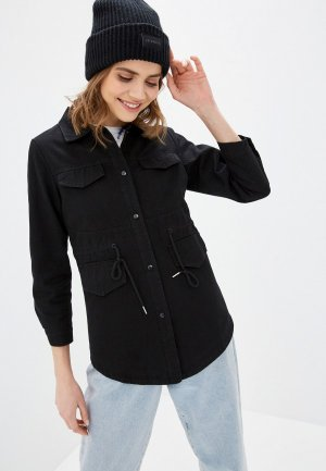 Куртка джинсовая Moki. Цвет: черный