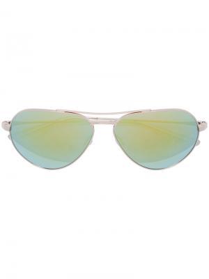 Солнцезащитные очки авиаторы Barton Perreira. Цвет: металлический