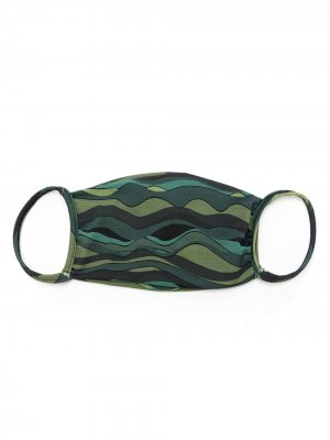 Маска для лица с принтом Amir Slama. Цвет: зеленый