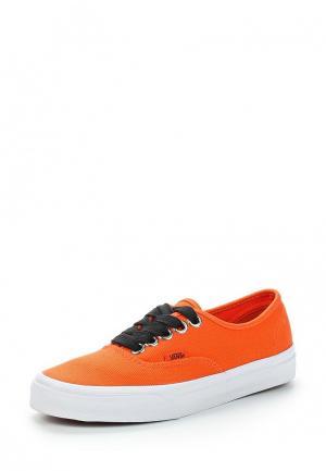 Кеды Vans AUTHENTIC. Цвет: оранжевый