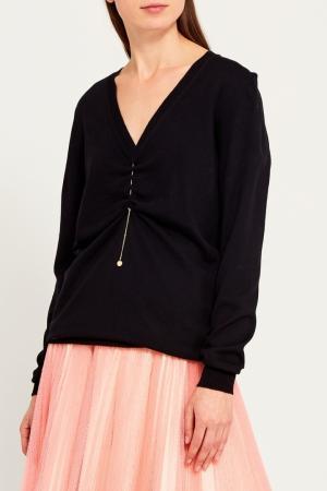 Пуловер шерстяной с драпировкой Nina Ricci
