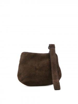 Фактурный кошелек Marsèll. Цвет: коричневый