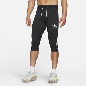 Мужские тайтсы для трейлраннинга длиной 3/4 Dri-FIT - Черный Nike