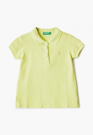 Поло United Colors of Benetton. Цвет: желтый