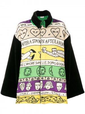 Пальто оверсайз с принтом JC de Castelbajac Pre-Owned. Цвет: нейтральные цвета