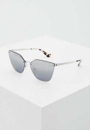 Очки солнцезащитные Prada PR 68TS 1BC2F2. Цвет: серебряный