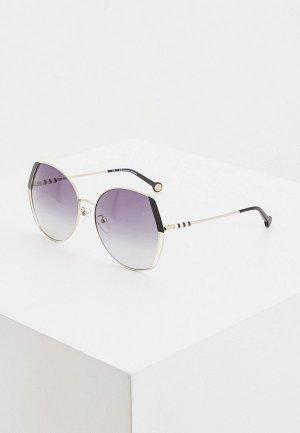 Очки солнцезащитные Carolina Herrera 162-33M. Цвет: серебряный