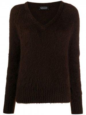 Джемпер фактурной вязки Gianluca Capannolo. Цвет: коричневый