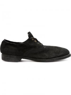 Туфли-оксфорды Guidi. Цвет: черный
