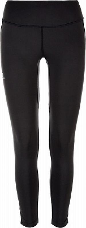 Легинсы женские Agile, размер 40-42 Salomon. Цвет: черный