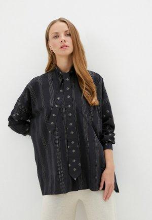 Блуза Naumi. Цвет: черный