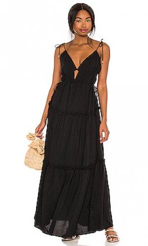 Платье solana Karina Grimaldi. Цвет: черный