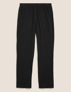 Мягкие пижамные брюки из хлопка премиум-класса Autograph. Цвет: черный
