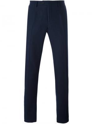 Классические брюки Ermanno Scervino. Цвет: синий