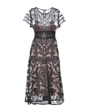 Платье длиной 3/4 REDValentino. Цвет: черный