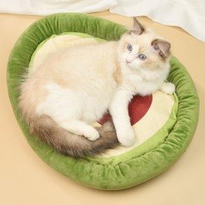 Кровать для домашних животных в форме авокадо SHEIN. Цвет: многоцветный