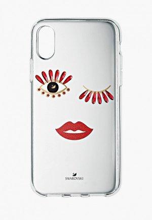 Чехол для iPhone Swarovski® NEW LOVE FACE. Цвет: белый