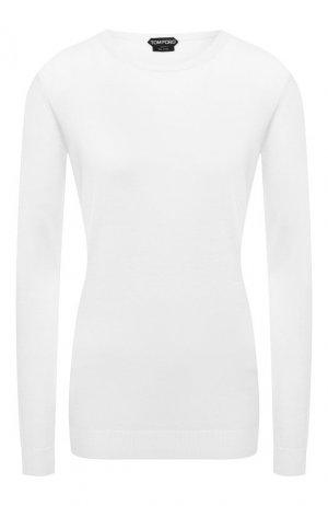 Пуловер из смеси кашемира и шелка Tom Ford. Цвет: белый