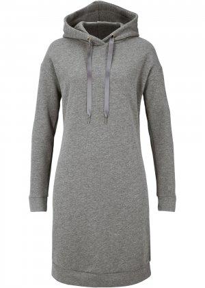 Платье трикотажное bonprix. Цвет: серый