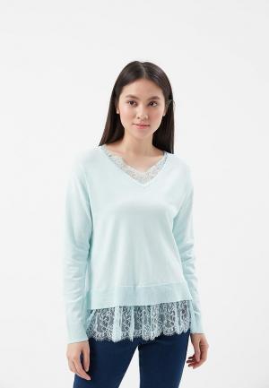 Пуловер Befree BE031EWADOX2. Цвет: бирюзовый