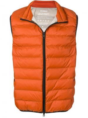 Дутый жилет Ecoalf. Цвет: оранжевый