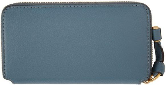 Blue Long Marcie Wallet Chloé. Цвет: 40z mirage blue