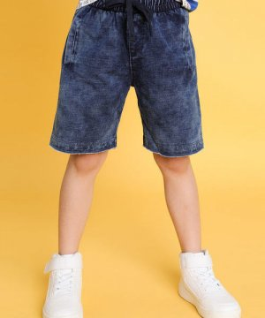 Трикотажные шорты для мальчиков O`Stin. Цвет: светло-синий
