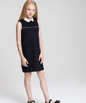 Платье для девочек O`Stin. Цвет: черно-синий