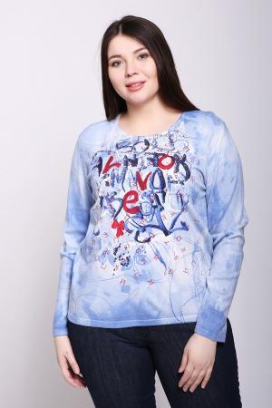 Пуловер Rabe collection. Цвет: голубой