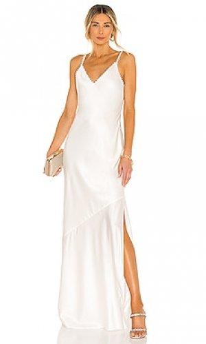 Вечернее платье marie CAMI NYC. Цвет: светло-бежевый