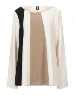 Блузка 1-ONE. Цвет: бежевый