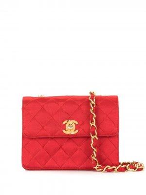 Стеганая сумка через плечо 1990-х годов Chanel Pre-Owned. Цвет: красный